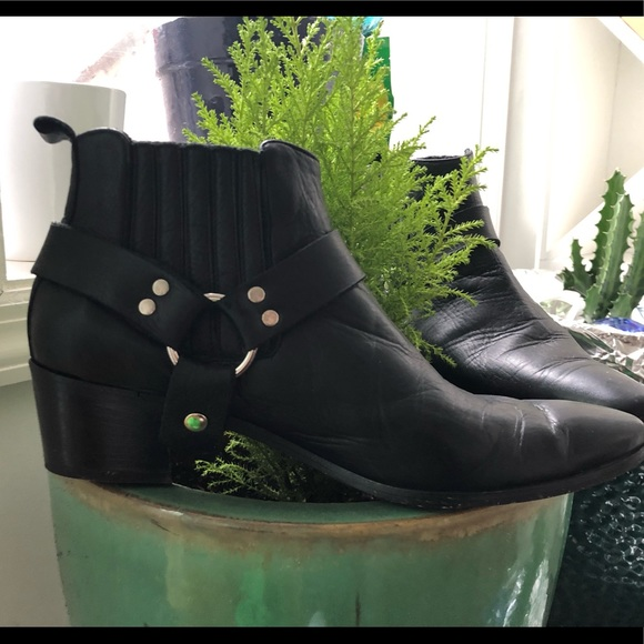 306e7fc1ae assembly ny/la Shoes | Assembly Nyc Leather Harness Boots Size 10 ...